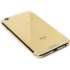 Goldgenie 24K Gold iPhone 6S 128GB ($4,185) ❤ liked on Polyvore featuring accessories, tech accessories, electronics, iphone, phone case and phones