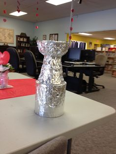 The Stanley Cup...finished.  Just wrap in tin foil and secure with metallic duct tape.  Just the right size for little ones!