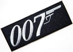 JAMES BOND 007-Logo Film-Jacke T shirt Aufnäher bestickt Logo Sign-Kostüm: Amazon.de: Sport & Freizeit