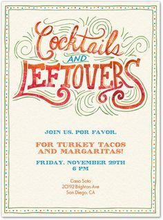 Thanksgiving invitation for Evite Postmark - by Cindy Lee-Tsu