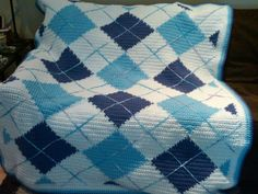Argyle Crochet Afghan Pattern : So cute!!! Gonna try my hand at some tapestry crochet ...