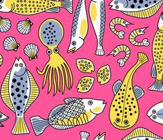 Fish Market - yellowstudio - Spoonflower