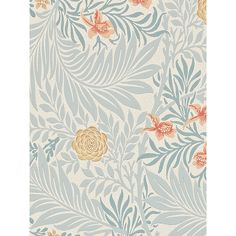 Buy Morris & Co Bird Larkspur Wallpaper | John Lewis