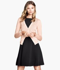 $30 FIne Knit Cardi - Pink, Black and White Product Detail | H&M US