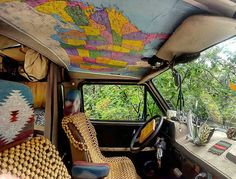New headliner. Not perfect but I love it. Just like vanlife. . . . by @wild_bear_medicine Thanks for TAGging us! - TAG #camperlifestyle and/or @camper.lifestyle - Follow your dreams turn ON post notifications!
