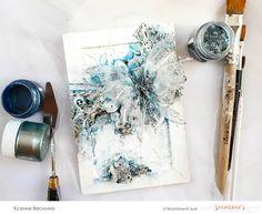 """Vesnina Ksenia. Scrapbooking: Canvas """"Butterfly"""""""