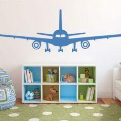 #Muursticker Vliegtuig