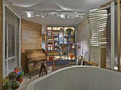 Sala de Leitura do Arquiteto - arquiteta e urbanista Aletéia Tolentino e a designer de interiores e lightning designer Fernanda Costa