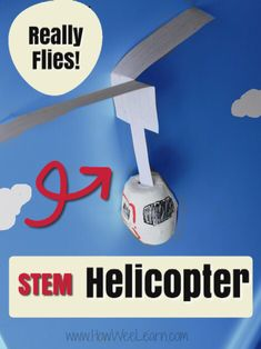Make a flying helicopter out of an egg carton! This is a great STEM activity for kids. An awesome science activity that is easy and simple with almost no prep and no special supplies. Space Activities For Kids, Steam Activities, Science Activities, Science Experiments Kids, Science Fair, Science For Kids, Science Today, Stem Projects, Science Projects