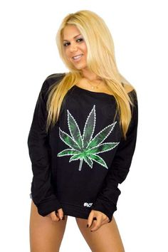 This is our Marijuana Leaf women's off the shoulder sweatshirt. Lot O' Tee sweaters are trendy pullovers made from 100% soft cotton. hot sexy smoke weed every day