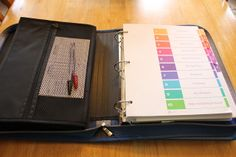 Organizing my paperwork for Girl Guides - using Avery labels and a binder!