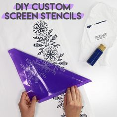 Learn how to make screen print stencils at home using the IKONART screen printing stencil kit. If you're a crafter, you've probably used your share of stencils. But today I'm going to show you the coolest new crafting technology that will change the way you stencil forever. These screen stencils are reusable, repositionable and completely customizable!! Custom Screens, Cute Crafts, Diy Crafts, How To Make Stencils, Acrylic Craft Paint, Custom Stencils, Craft Corner, Diy Home Decor Projects, Make And Sell