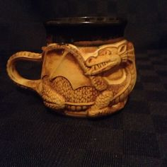 Handmade Pottery Clay 3D Dragon Coffee Cup Mug Fantasy Fly Animal in Collectibles, Decorative Collectibles, Mugs, Cups | eBay