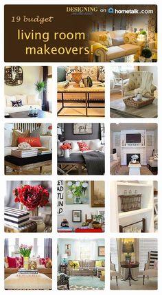 19 Budget Living Room Makeovers…For Hometalk!