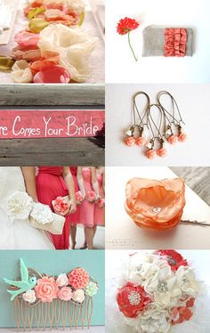 how a #coral wedding could look