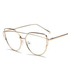 Rose Gold Polygon Metal Frame Eyeglasses Clear Lens Fake Glasses Oversized Spectacle Eyewear Frames For Women Men Oculos De Grau