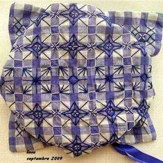 """Adorável coração coisas: técnicas de bordado. Parte 12: """"Bordado em um pano ou frango zero checkered bordado"""""""