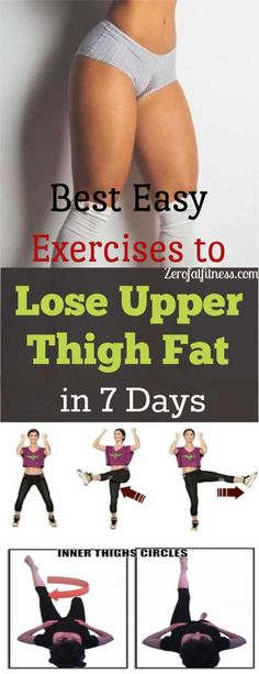 Fitness Best Easy Exercises To Lose Upper Thigh Fat In 7 Days - Are you sick and tired of that upper inner thigh fat that makes you feel uncomfortable between your legs? Here exercises to lose upper thigh fat in 7 days Quick Weight Loss Tips, Weight Loss Help, Lose Weight In A Week, Loose Weight, Weight Loss Program, How To Lose Weight Fast, Reduce Weight, Losing Weight, Body Weight