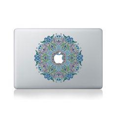 Floral Victorian Mandala Vinyl Macbook Sticker for Macbook 13/15