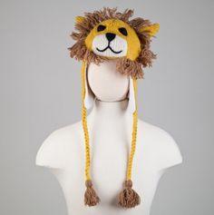 Kids Lion Knit Hat - Luna Lovegood anyone? @Alli Bass