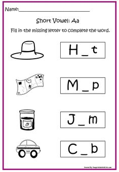 Fun FREE printable worksheets for Kinder Reading Readiness printables: Short Vowel Letter A Free Printable Worksheets, Worksheets For Kids, Free Printables, Homographs, Letter N Words, Short Vowels, Learn English, Phonics, Preschool