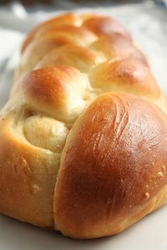 Challah Bread This eggy, hearty challah bread is great straight out of the oven, but also makes amazing french toast.This eggy, hearty challah bread is great straight out of the oven, but also makes amazing french toast. Bread Machine Recipes, Easy Bread Recipes, Cooking Recipes, Challah Bread Recipes, Challah Bread Recipe With Honey, Cooking Games, Cooking Food, Challah Bread Machine Recipe, Simple Bread Recipe