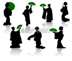 Find Silhouettes of dancers of Japanese theater Kabuki and silhouettes of geisha Stock Images in HD and millions of other royalty-free stock photos, illustrations, and vectors in the Shutterstock collection. Dancer Silhouette, Woman Silhouette, Silhouette Art, Japanese Sleeve, Japanese Art, Japanese Style, Sillouette Painting, Spray Painting, Kabuki Dance