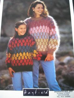 Hayfield knitting pattern 4278 ladies girls mohair sweater Bust 26 - 38 inch