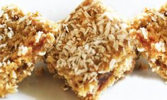 A healthy recipe for lemon coconut bars from the Superfood Kitchen cookbook.