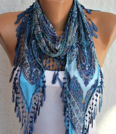 Blue Scarf  - by fatwoman, $15.00