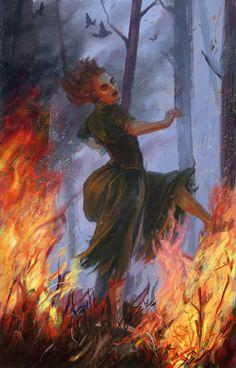 The dancing witch by HuginnTheCatcher.deviantart.com on @DeviantArt
