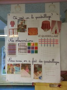 Le quadrillage Petite Section, Grande Section, Too Cool For School, Teaching, Education, Frame, Maths, Graphing Activities, Body Preschool
