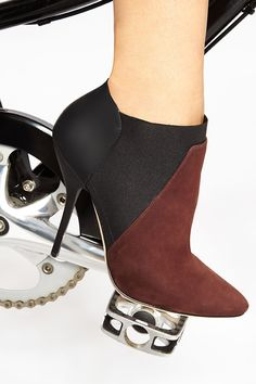 Colorblock booties for full effect! Love this Jimmy Choo style for Fall 2014!
