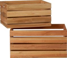 eucalyptus storage boxes    CB2 I want to make a coffee table with these.