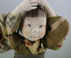 Art Doll OOAK Ningyo Child Brothers made from by SakuraAntiques