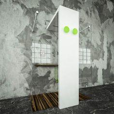 Radiator with integrated shower head: Monolite gets light by Brandoni