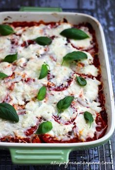 Eggplant Lasagna {check out this healthy version of the classic…delicious!} | a cup of mascarpone