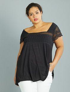 999d24bf2d camisetas manga corta en tallas grandes de mujer baratas - moda Tallas  grandes mujer | Kiabi