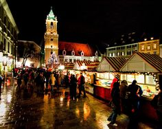 Holiday lights in Slovakia.