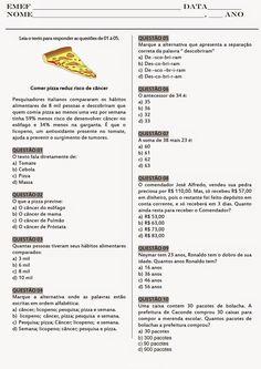 Rosearts- Atividades para imprimir: Avaliação de português e matemática - 1º bimestre (4º/5º anos) Portuguese Lessons, Responsive Classroom, Math Facts, Kindergarten Math, Mathematics, Professor, Study, Teaching, Education