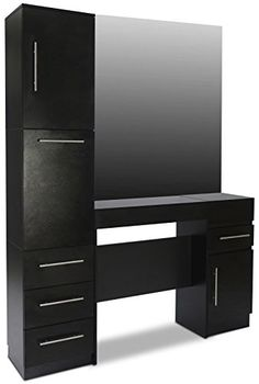 Icarus Modesto Black Hair Salon Styling Station With Large Pull Out Drawers And Cabinets *** You can get more details by clicking on the image. (It is an affiliate link and I receive commission through sales)