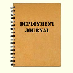 Kraft paper Military girlfriend/spouse Deployment journal or notebook. Write your deployment letters and keep track of your days as you wait for your