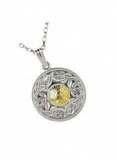 6c0b2276 This Irish necklace is a piece of Irish jewelry with an Gold bead on a  Celtic warrior large pendant, which makes a great Irish Gift.