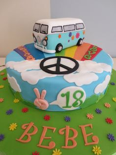Peace and Love cake