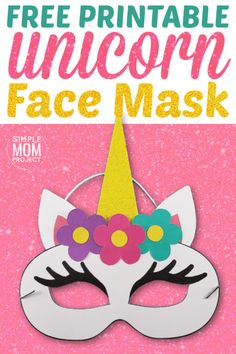 Click now to print your free unicorn mask template for kids. They are perfect for a unicorn themed birthday party or even a quick Halloween costume! Quick Halloween Costumes, Halloween Kids, Halloween Crafts, Unicorn Crafts, Bunny Crafts, Easter Bunny Colouring, Unicorn Themed Birthday Party, Unicorn Party, Unicorn Mask