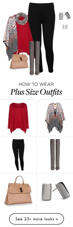 """""""plus size winter chic"""" by kristie-payne on Polyvore featuring Exelle, M&Co, maurices, Gianvito Rossi, Missoni, Gucci, Maison Margiela and Chico's"""