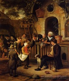 The Little Alms Collector - Jan Steen 1663 - 65