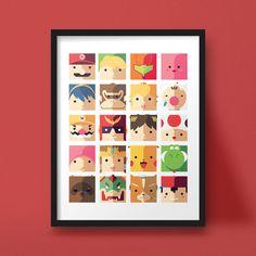 Nintendo hübsch moderne Geek-Kunstdruck-Kinder