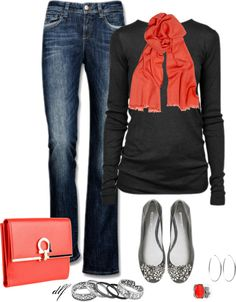 """Classy but Casual"" by tdfediuk on Polyvore  On days when I need to look a little more like a functioning teenage girl."