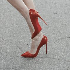 I can't imagine walking in these but I can picture stabbing the heel through a boy's heart - V